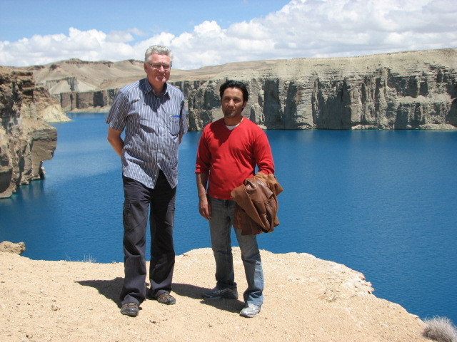 Terry and Jamshaid at the famous Band-e Amīr Lakes