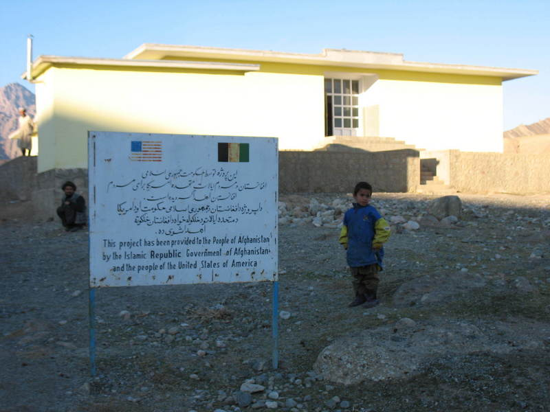 This school is in the village of Aab-e-Asiabha which is about the closest point the road gets to the CP