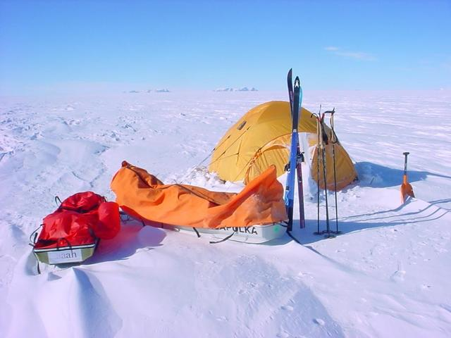 Camping out in Antarctica