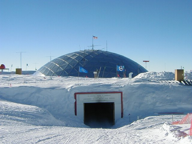 The entrance to the south pole station