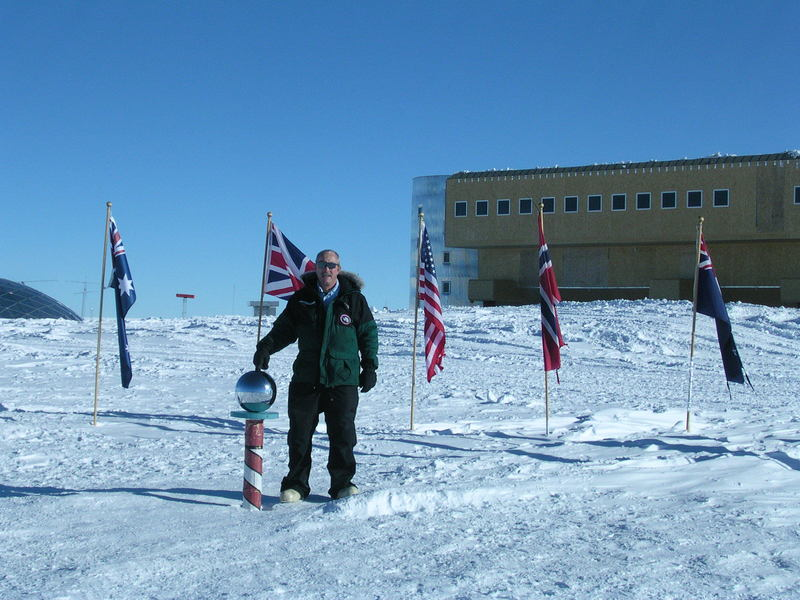 "Ceremonial South Pole; ""Old"" & ""New"" South Pole Stations"