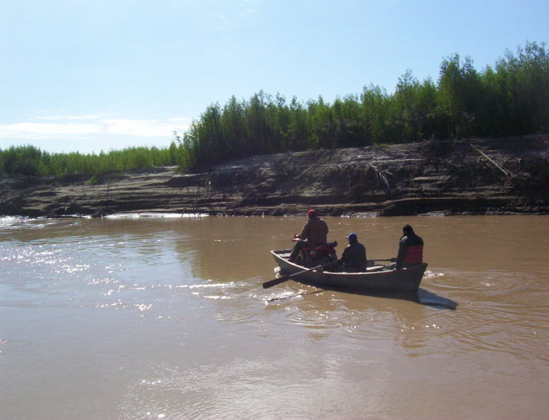Cruce del Río Pilcomayo. Crossing at Pilcomayo River