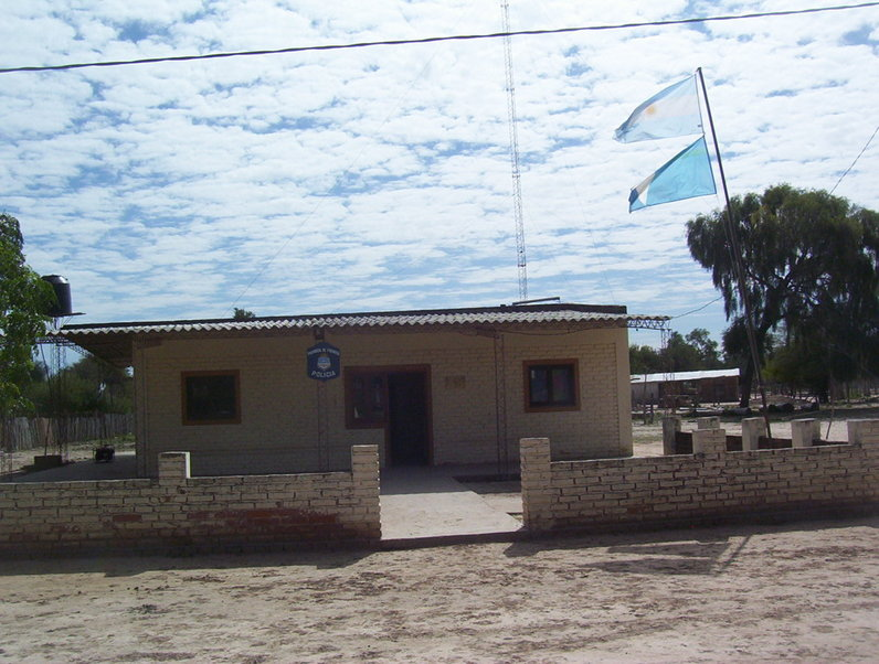 Estación de policia de Quebracho. Police station at Quebracho