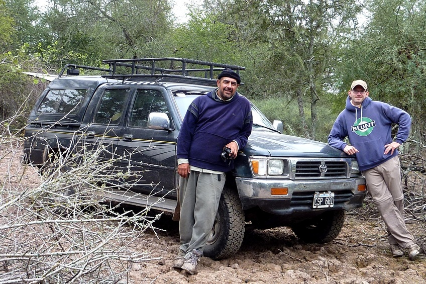 Marcelo, Bernardo and the Hilux