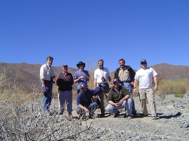 Group from left to right (Eduardo, Andy, Adrian, Federico, Piercarlo, Mauricio, rodilla en tierra: Juan Cruz and Pablo)