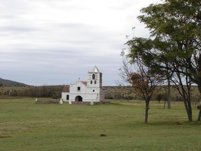 Old chapel at San Pedro, 35 km south of the confluence