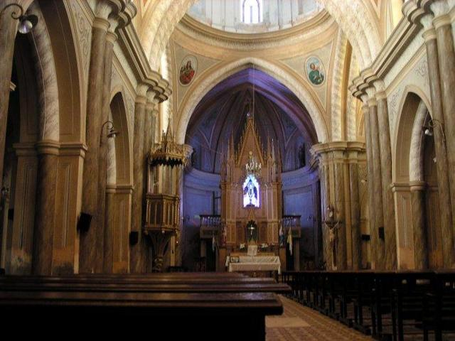the interior of the Cathedral of Villa Concepción del Tío