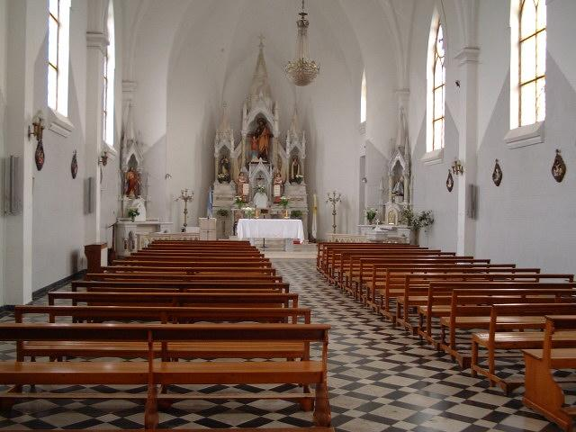 The interior of the San José Church