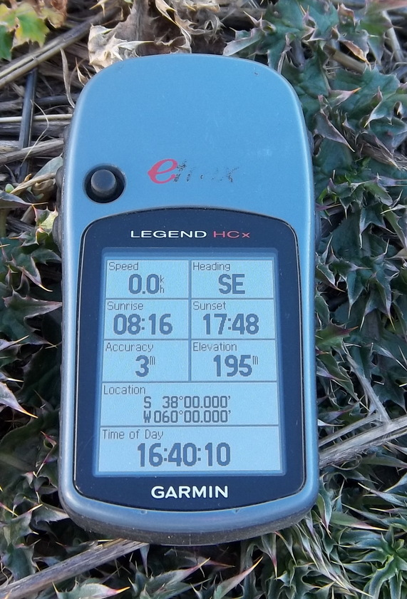 GPS photo with position, accuracy, time and elevation
