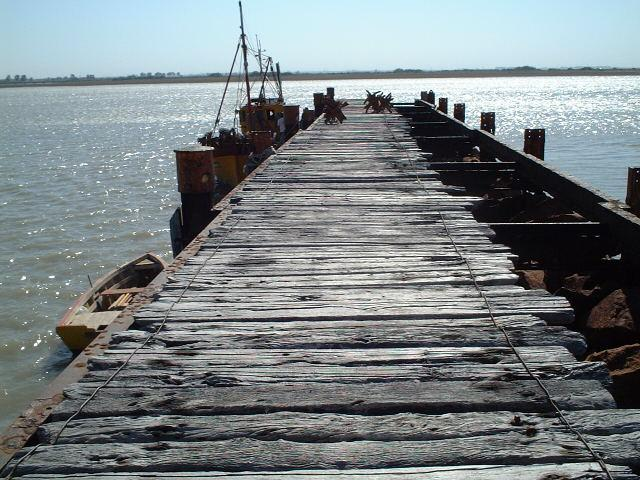 the jetty of Puerto Rosales near Bahia Blanca