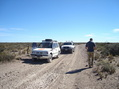 #7:  Las chatas a 50 mts de la confluence - Pick-ups at 50 meters of thr confluence
