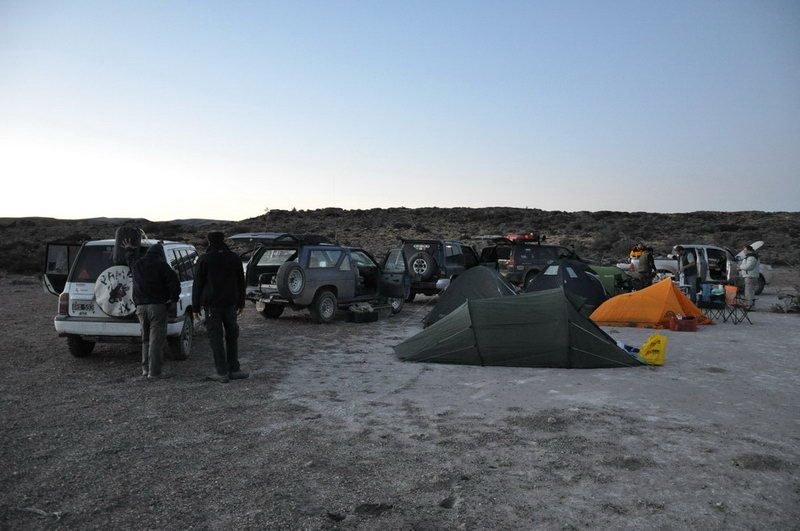 Campamento al final del día – Camping at the end of the day
