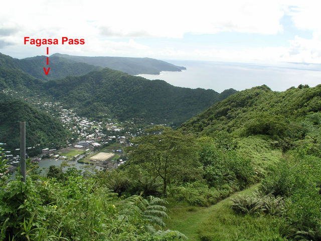 Our route to the top of Mt. 'Alava followed Maugaloa Ridge from Fagasa Pass.