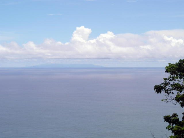 On a sunny day, Samoa's island of 'Upolu can clearly be seen from the slopes of Mt. 'Alava.