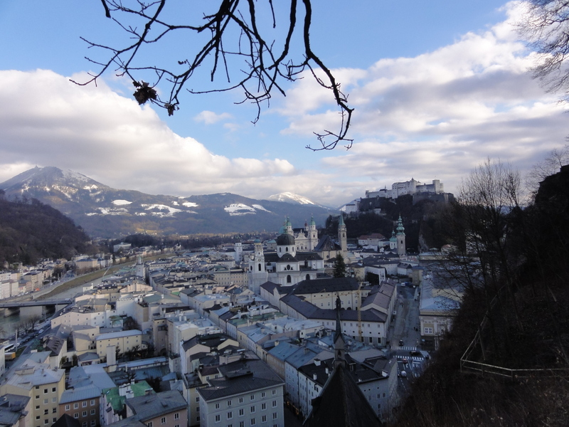 Downtown Salzburg from the museum of modern art