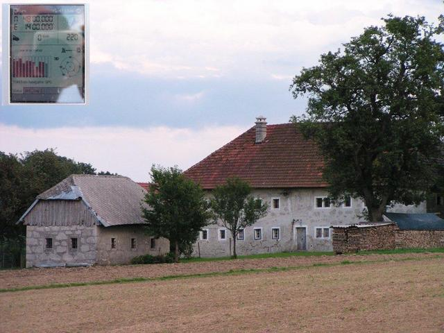 View from the point to the farmhous / Blick vom Punkt zum Bauernhaus