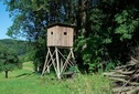 #7: A hunting blind in a field about 1 km (2 km on foot) from the point