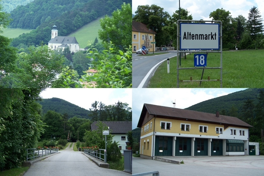Altenmarkt an der Triesting - church and fire station