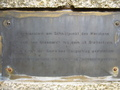 #8: Meridian monument (closeup of the inscription)