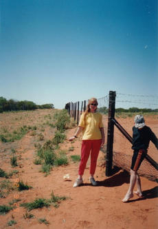 #1: Looking East - the Dog fence and the on the left, the WGS84 Confluence
