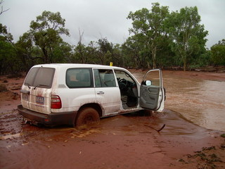 #1: Main view of vehicle about 15 minutes after being bogged