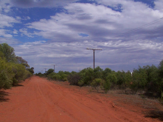 Access road next to the railway line