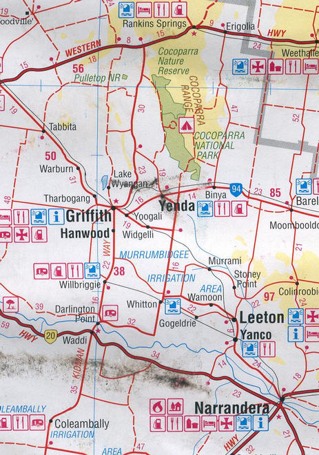 "Sample of HEMA ""Outback New South Wales"" map showing the area ... an excellent map."