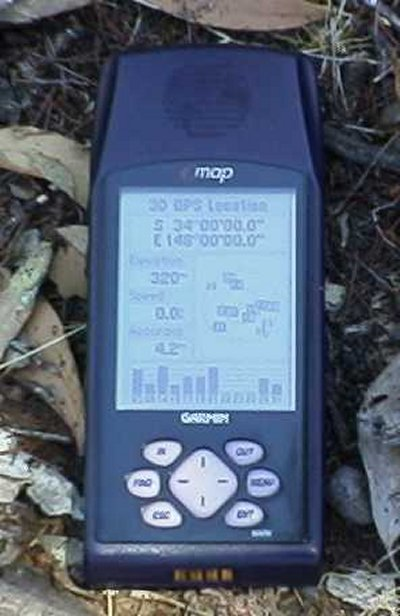 GPS at confluence point 34S 148E