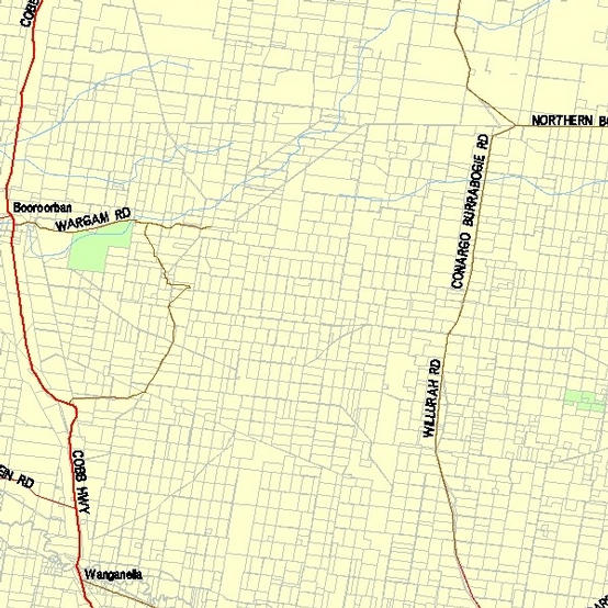 Map of the general area