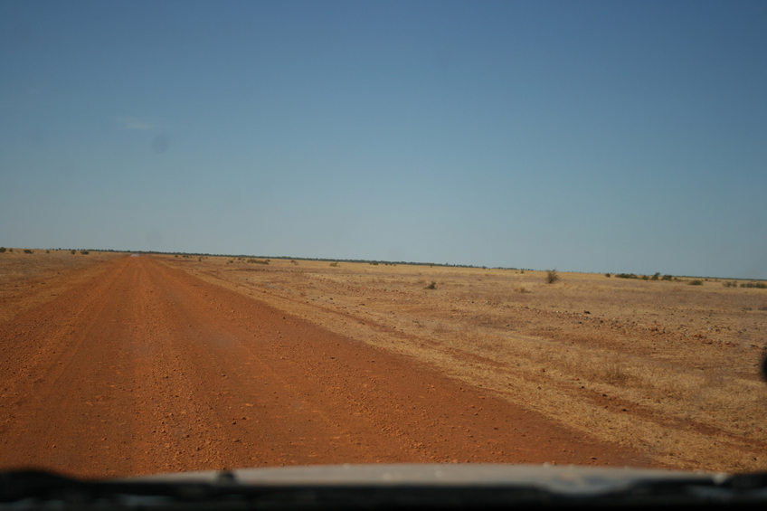 On the Barkly Stock Route approaching the confluence point