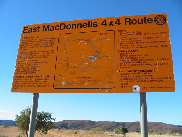 Territory Explorer Route sign