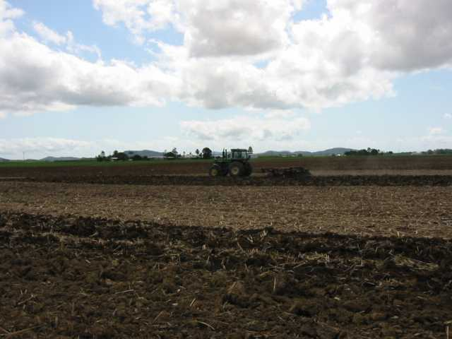 General view of the spot with the land owner