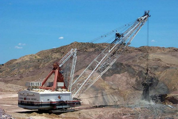 Large walking dragline at one of the coal mines nearby