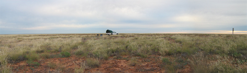 Morning, overnight camp on the Cooper Developmental Road 200 km south of 27S 143E.
