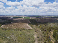 #9: View East (along the Condamine River), from 120m above the point