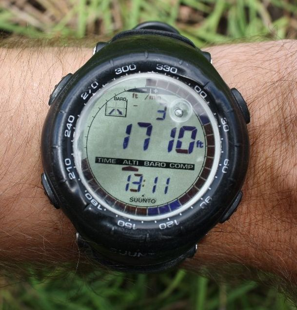 My watch showing Altitude in Feet and Time or visit