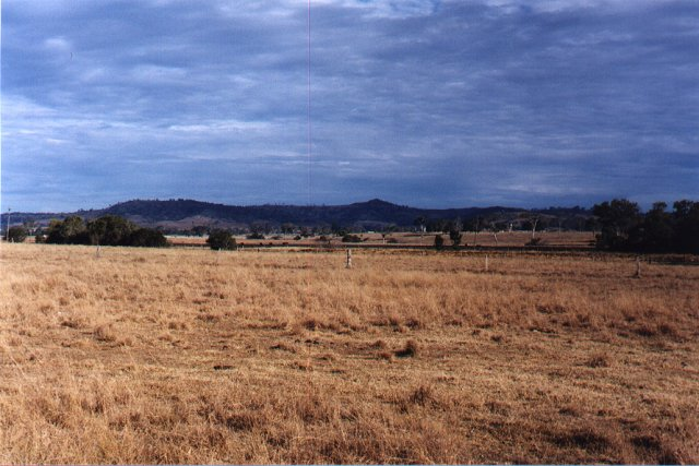 A view from the confluence, looking Northwest, across the bush to the mountains…