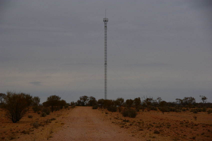 A Close up view of the old Communications Tower