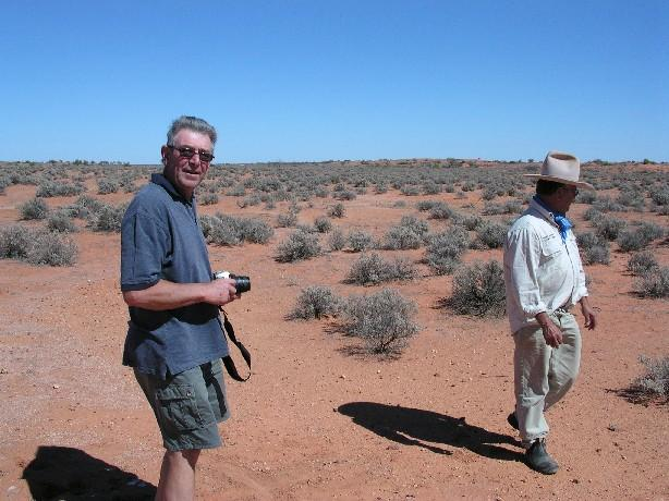 Rod Chapple (left) and our guide, Bobby Hunter (right)