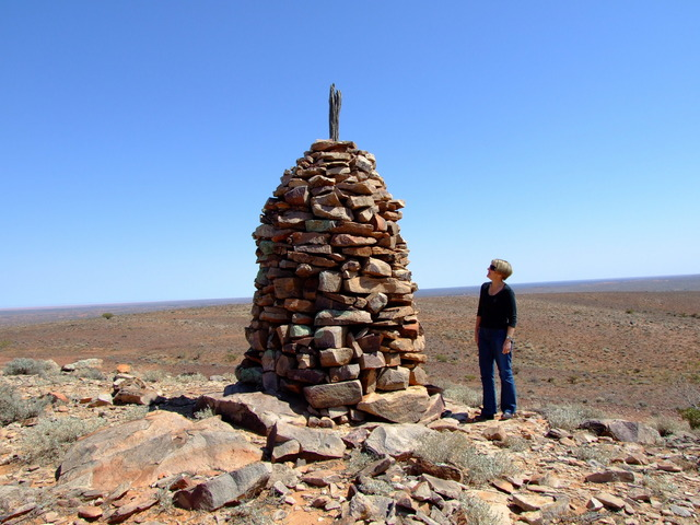 Stone Cairn at Mt Michael Built in January 1860
