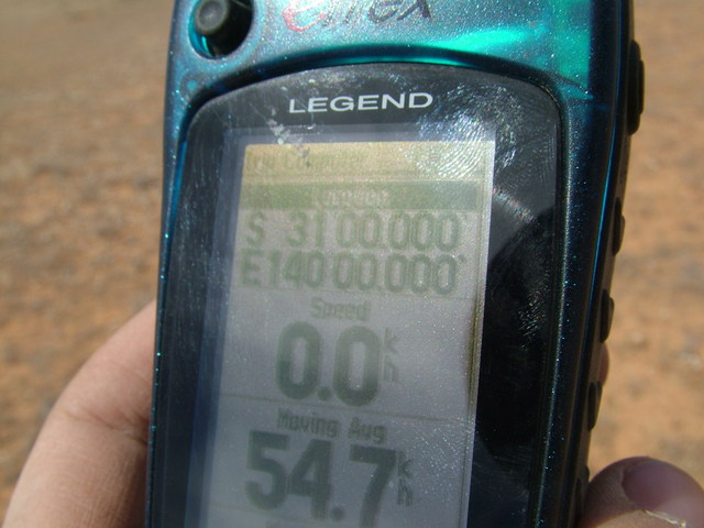 Picture of the GPS at the point