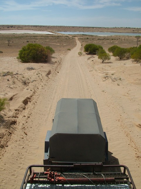 Back south across the dam as seen from the roof rack of the LandCruiser Troopie
