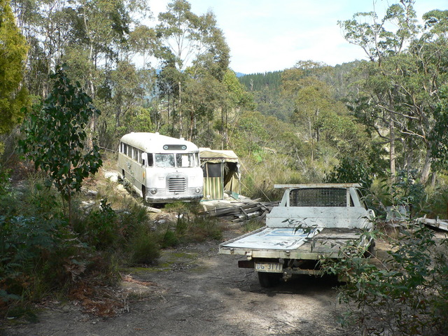 Inhabited bus 250 metres south of the confluence.