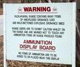 #7: The sign warns of unexploded munitions