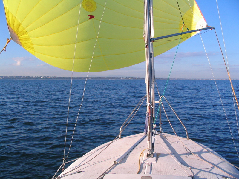 This is what I was really doing out there; playing with my newly acquired spinnaker!