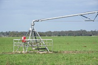 #7: A close-up view of the central pivot irrigation machine just to the west of the point