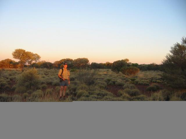 Peter in spinifex approximately 500m south of the confluence