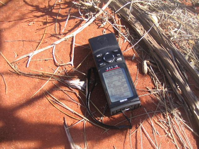 The GPS device on the 26°S 115°E confluence.