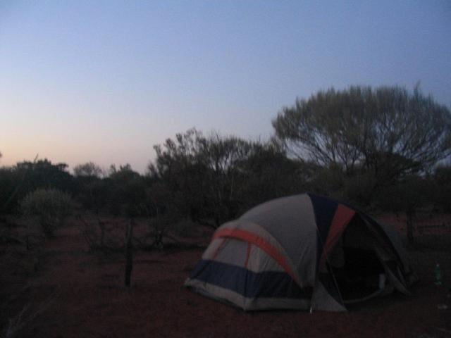 Our campsite in the early morning.