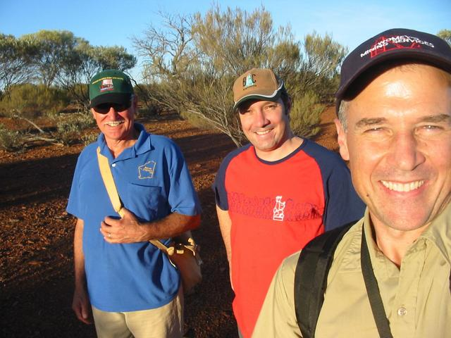 Noel, Shane and Peter walking to the confluence
